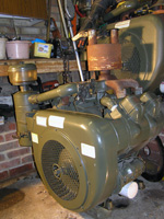 Wisconsin 65 HP air cooled petrol engine